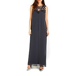 Wallis - Grey velvet maxi dress