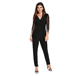 Wallis - Black embellished cuff jumpsuit
