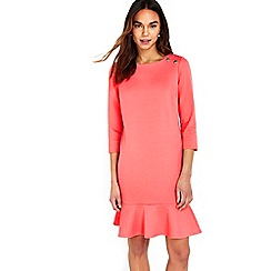Wallis - Coral peplum shift dress
