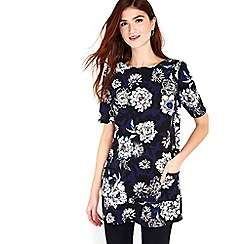 Wallis - Navy floral shift dress