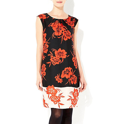 Wallis - Red oriental shift dress