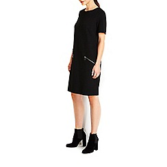Wallis - Black ponte zip dress