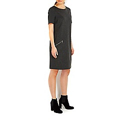 Wallis - Dark grey ponte zip dress