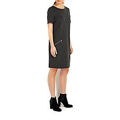 Wallis - Dark grey ponte zip dress