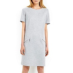 Wallis - Light grey zip shift dress