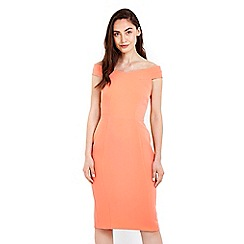 Wallis - Coral bardot shift dress