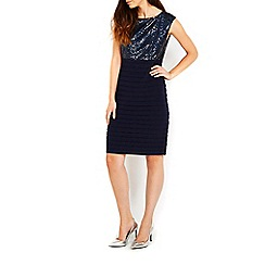 Wallis - Navy sequin shutter dress