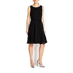 Wallis - Black saprkle fit and flare dress