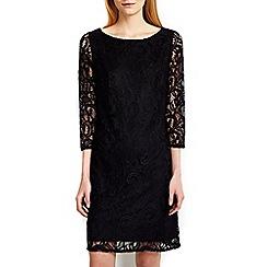 Wallis - Black 3/4 sleeve lace shift dress