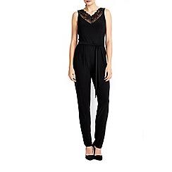 Wallis - Black lace insert jumpsuit