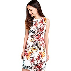 Wallis - Cream floral printed shift dress