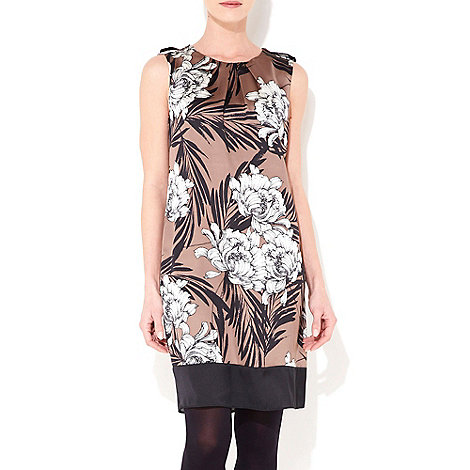 Wallis - Taupe floral shift dress