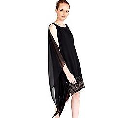 Wallis - Black embellished one shoulder dress