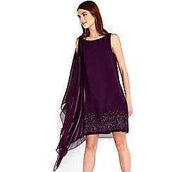 Wallis - Purple hotfix detail dress