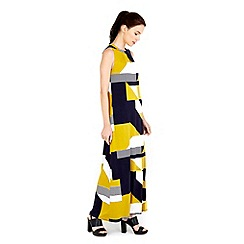 Wallis - Lime geo print maxi dress