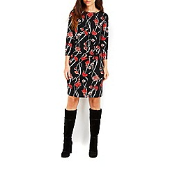 Wallis - Oriental printed drape dress