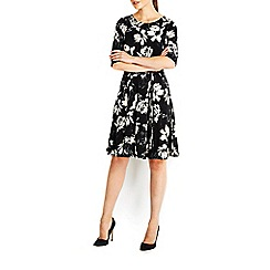 Wallis - Oriental fit and flare dress