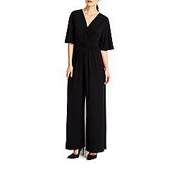 Wallis - Black knot front jumpsuit