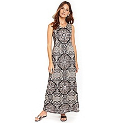 Wallis - Stone neutral print maxi dress