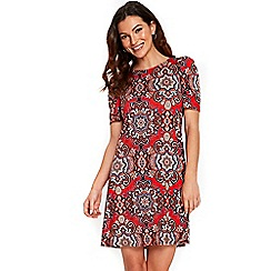 Wallis - Red printed swing dress