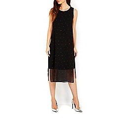 Wallis - Black sparkle embellished tabbard dress