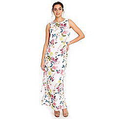 Wallis - Ivory summer floral maxi dress