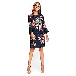 Wallis - Floral flute sleeves shift dress