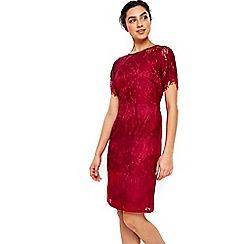 Wallis - Red stripe lace shift dress