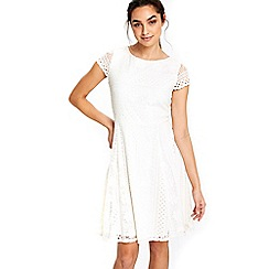 Wallis - Ivory lace fit and flare dress