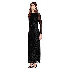 Wallis - Black animal maxi dress