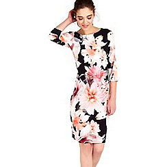 Wallis - Apricot floral jersey dress