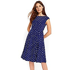 Wallis - Cobalt spot dress