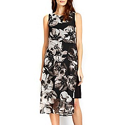 Wallis - Black floral printed tunic dress