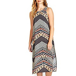 Wallis - Tribal midi tunic dress