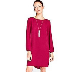 Wallis - Pink necklace trim dress