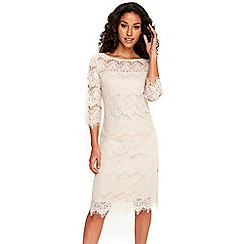 Wallis - Oyster scallop lace dress