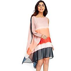 Wallis - Coral ombre one shoulder dress