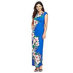 Wallis - Blue blossom maxi dress