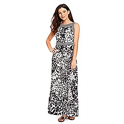 Wallis - Monochrome animal print maxi dress