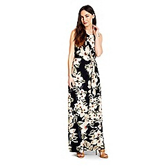 Wallis - Floral leaf knot maxi dress