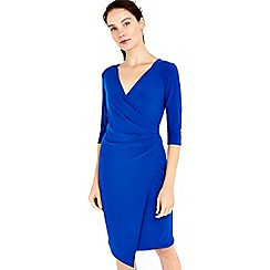 Wallis - Blue wrap side dress