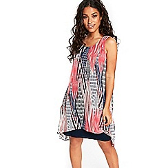 Wallis - Navy tribal printed dress