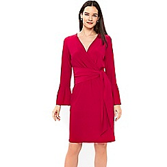 Wallis - Pink wrap detail dress