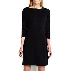 Wallis - Black embellished tie side shift dress