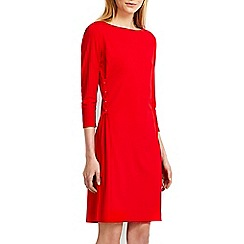 Wallis - Red embellished tie side shift dress