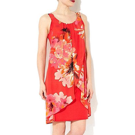 Wallis - Orange daisy print dress