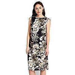 Wallis - Black floral strappy dress