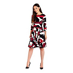 Wallis - Geometric print fit and flare dress