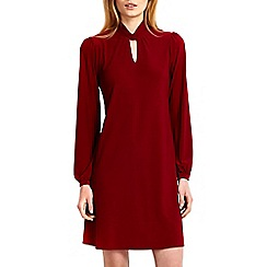 Wallis - Wine keyhole swing dress