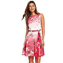 Wallis - Pink ombre lily fit and flare dress